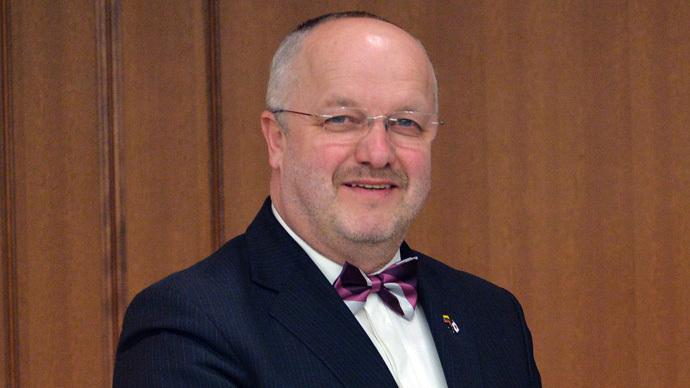 Lithuanian Defence Minister Juozas Olekas (AFP Photo/Yoshikazu Tsuno)