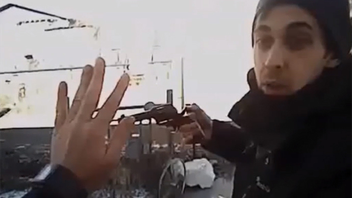 Cop's body cam captures moment he was shot dead