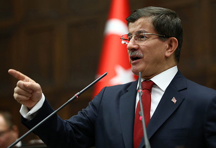 Turkey's Prime Minister Ahmet Davutoglu (AFP Photo / Adem Altan)
