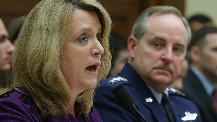 U.S. Air Force Secretary Deborah Lee James (L) and Air Force Chief of Staff Gen. Mark Welsh III (Chip Somodevilla / Getty Images / AFP)