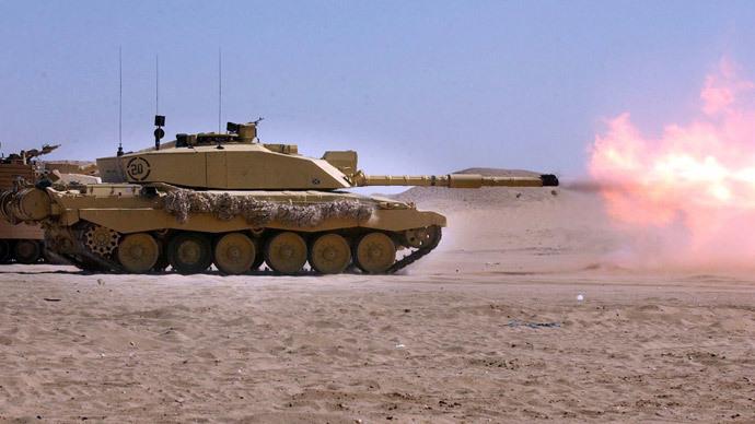 Challenger 2 Tank.(AFP Photo / Tony Nicoletti)