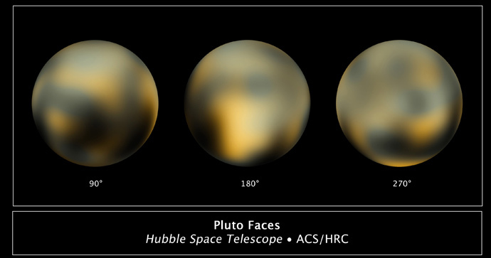 This image obtained from NASA shows the newest images of Pluto taken by the Hubble Space Telescope. (AFP Photo / NASA)