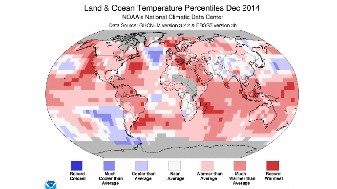 ​2014 officially hottest year on record