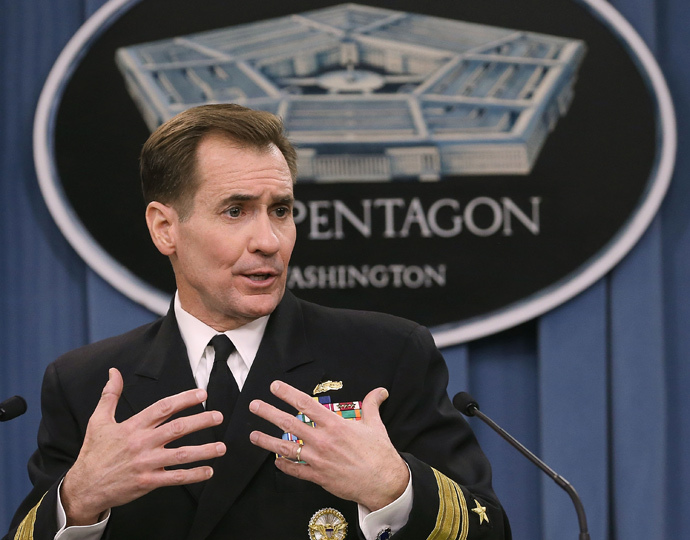 Pentagon Press Secretary Rear Adm. John Kirby . (Mark Wilson / Getty Images / AFP)