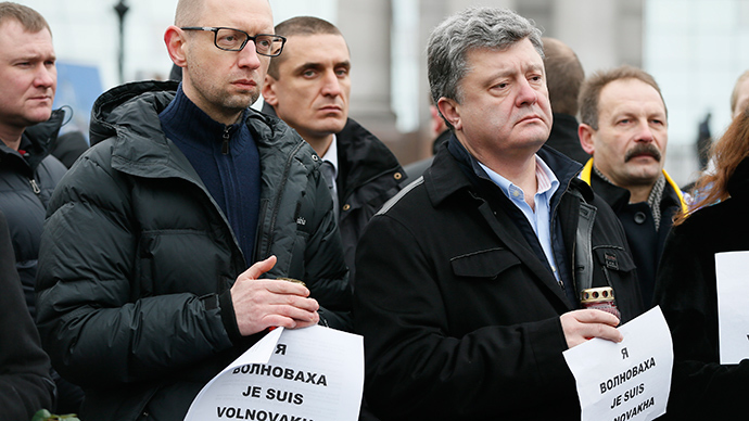 'Je suis Volnovakha': Charlie-copycat slogan at pro-govt rally as Kiev shells E. Ukraine