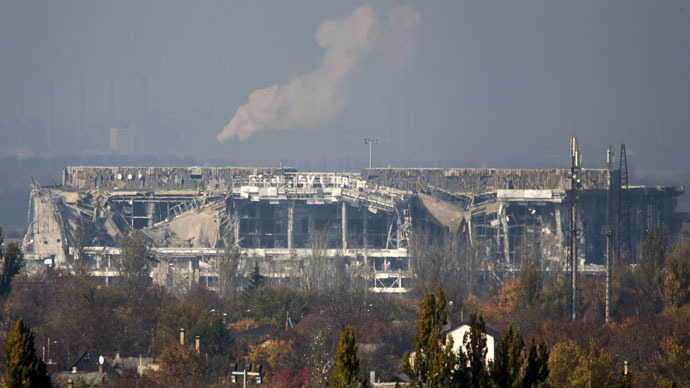 Laid to waste: Drone footage shows devastation at Donetsk airport (VIDEO)