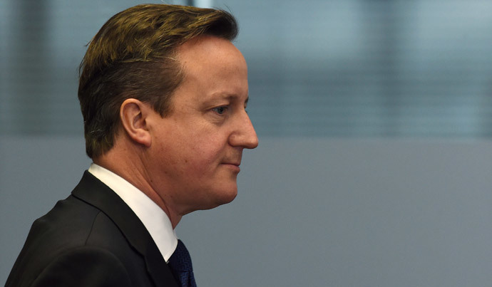 British Prime Minister and leader of the Conservative Party David Cameron (AFP Photo / Paul Ellis)