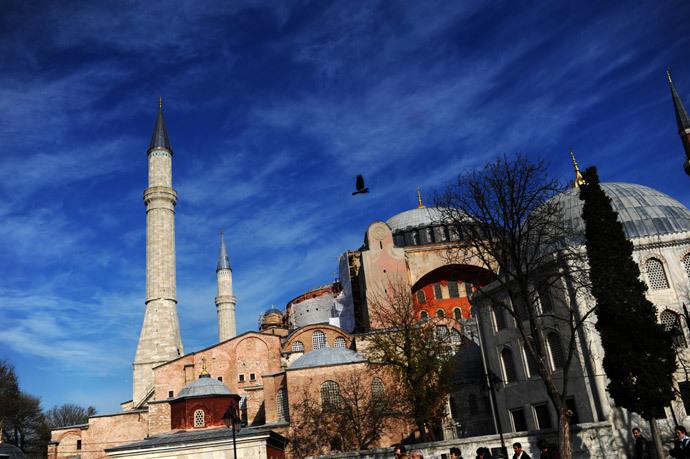 Hagia Sophia, at Sultanahmet in Istanbul. (AFP Photo / Bulent Kilic)