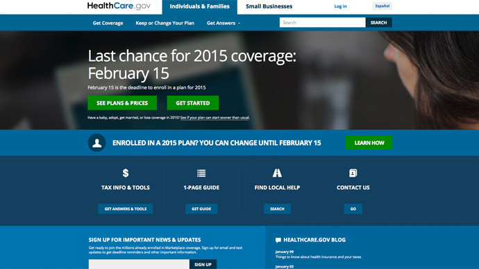 Obamacare site is tracking users – report