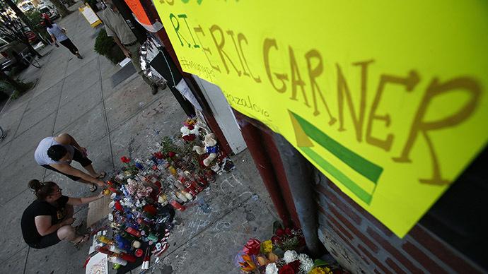 Eric Garner memorial burns down in NYC