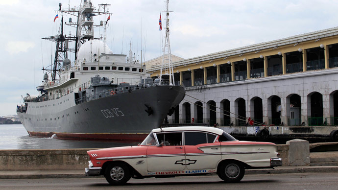Russian spy ship in Havana ahead of US delegation's historic visit