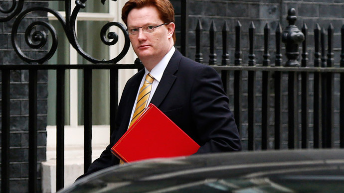 Britain's Chief Secretary to the Treasury Danny Alexander.(Reuters / Suzanne Plunkett)