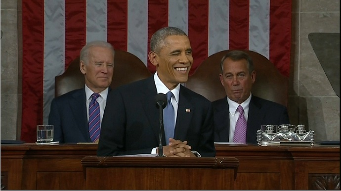From trolling social media to funny faces, Obama's State of the Union got tongues wagging