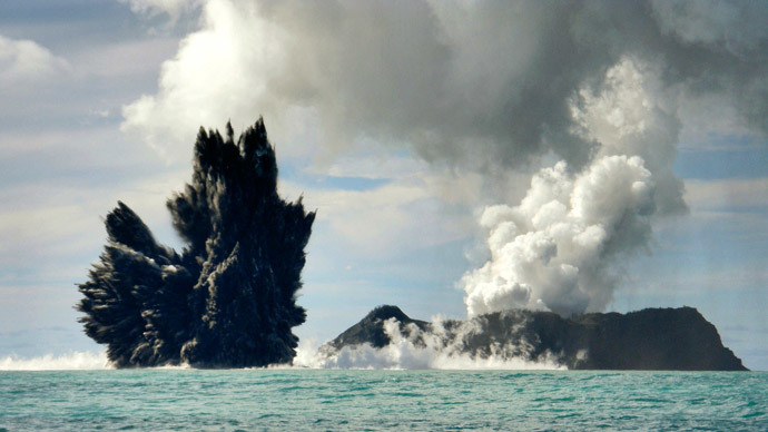 New island created in Tonga volcanic eruption