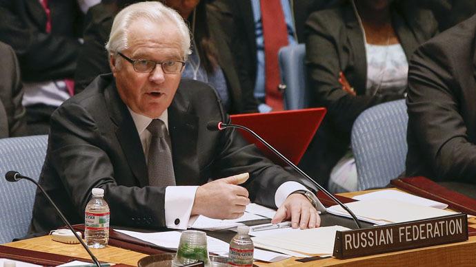 Russian Ambassador to the United Nations Vitaly Churkin (Reuters/Shannon Stapleton)