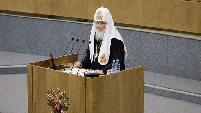 Patriarch seeks abortion ban in Russia in parliament speech