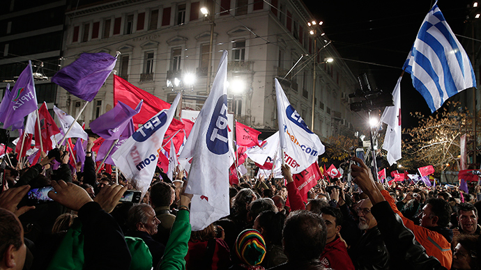 Spaniards hold mass rally for leftist Podemos ahead of elections