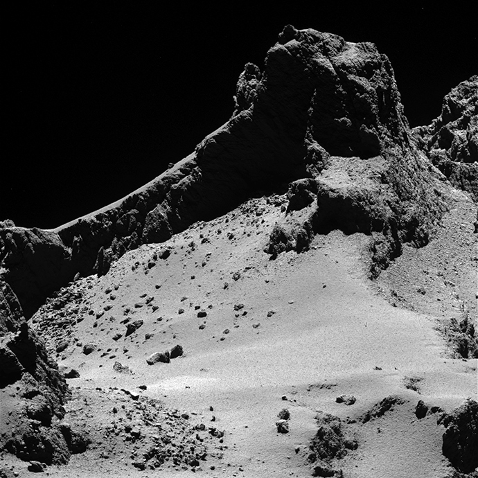 Comet from 8 km (Image from esa.int)