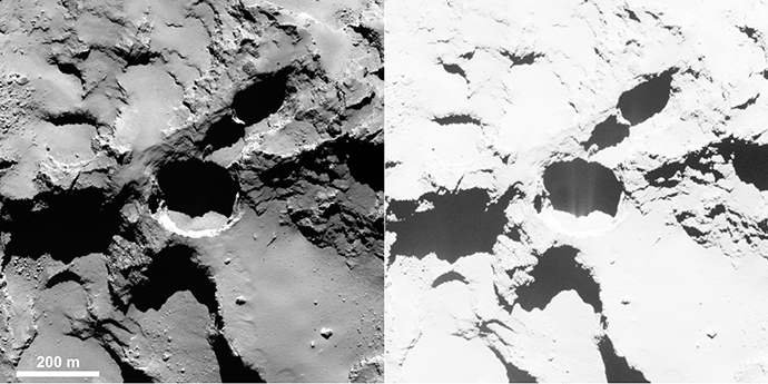 Active pit (Image from esa.int)