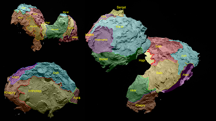 Mapping new world: Rosetta reveals first results of host comet probe (PHOTOS)