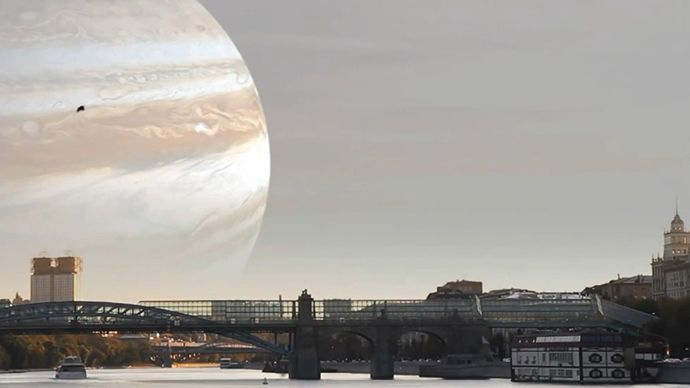 Awesome CGI footage shows view from Earth if planets replaced moon