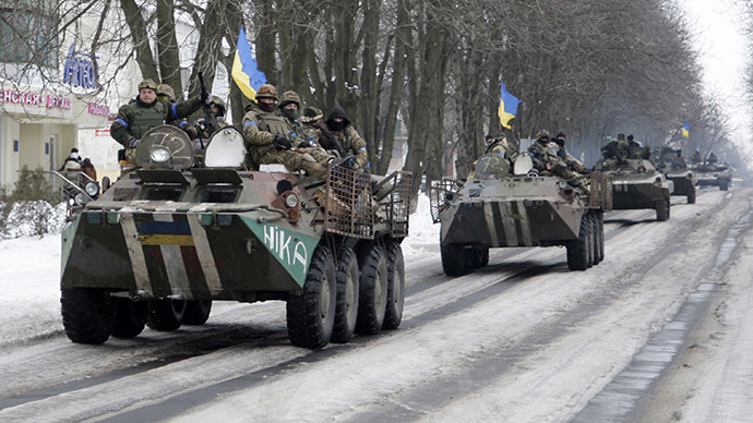 Ukraine military 'to boost forces in the east' as Poroshenko calls to stick to Minsk accord