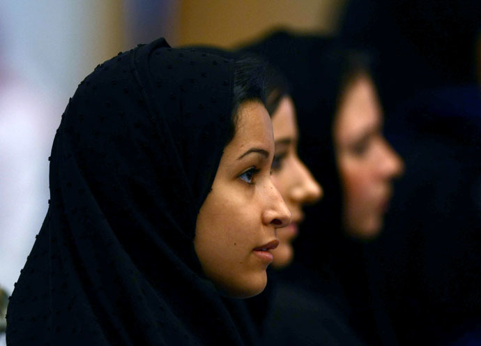 Saudi Princess Lulwa Khaled Al-Saud (L) (Reuters/Fahad Shadeed)
