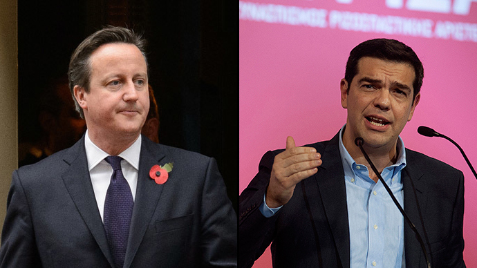 Syriza triumphs: Cameron defends austerity, British left say 'hope has won'