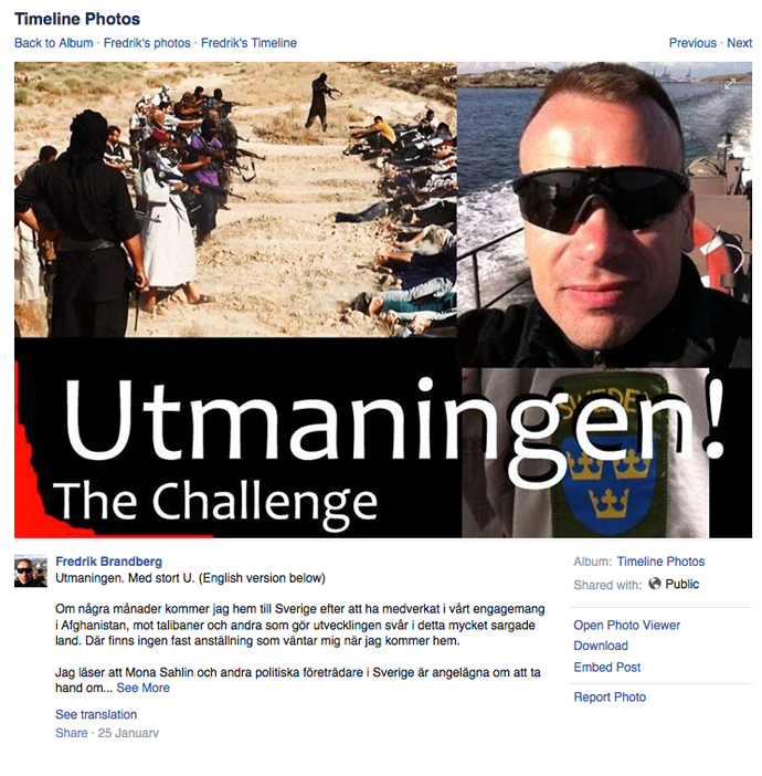 Screenshot from facebook.com/fredrik.brandberg