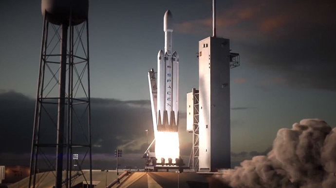 SpaceX showcases Falcon Heavy rocket launch & booster recovery animation (VIDEO)