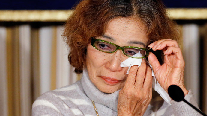 Junko Ishido, mother of Kenji Goto.(Reuters / Toru Hanai)
