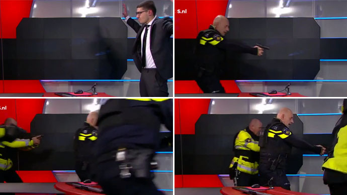 Gunman enters Dutch TV station, demands to go on air (VIDEO)