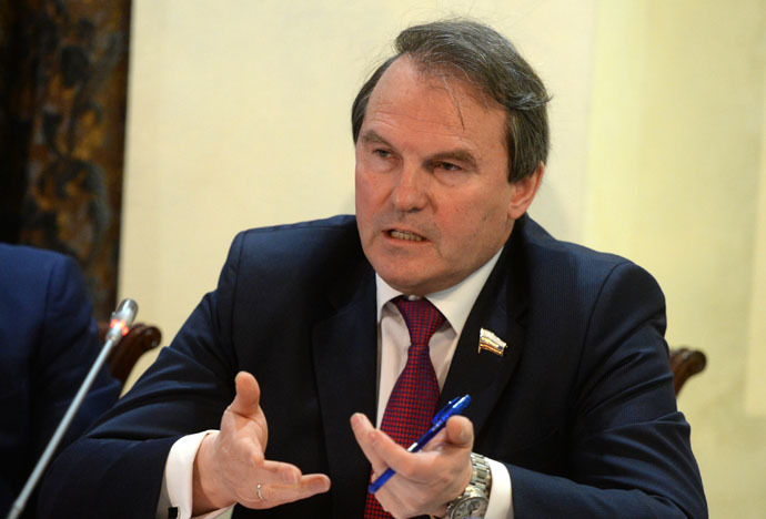 Igor Morozov, member of the Federation Council's International Affairs Committee (RIA Novosti/Mikhail Voskresenskiy)