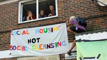 Thousands march in London to protest housing crisis