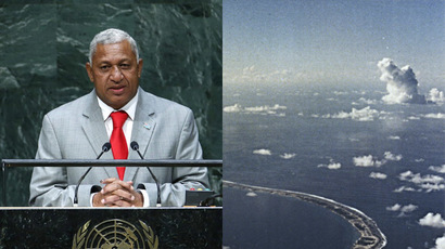 Fiji compensates victims of 1950s UK nuclear tests