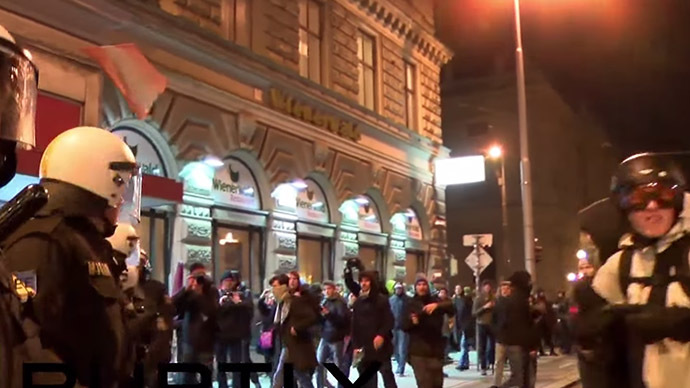Scuffles, dozens arrested as crowds protest Vienna's right party-funded ball (VIDEO)
