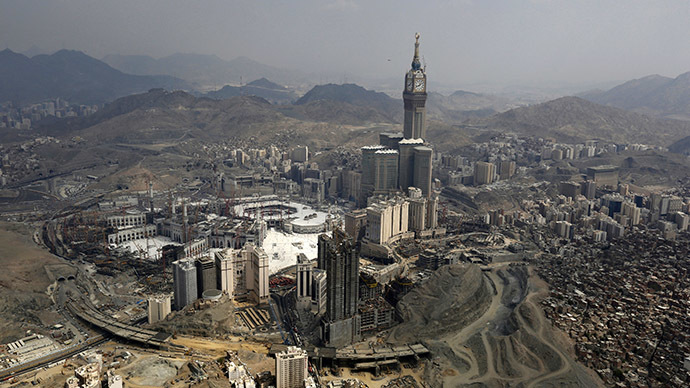 An aerial view is seen of the Grand Mosque on the second day of Eid al-Adha in the holy city of Mecca October 5, 2014. (Reuters/Muhammad Hamed)