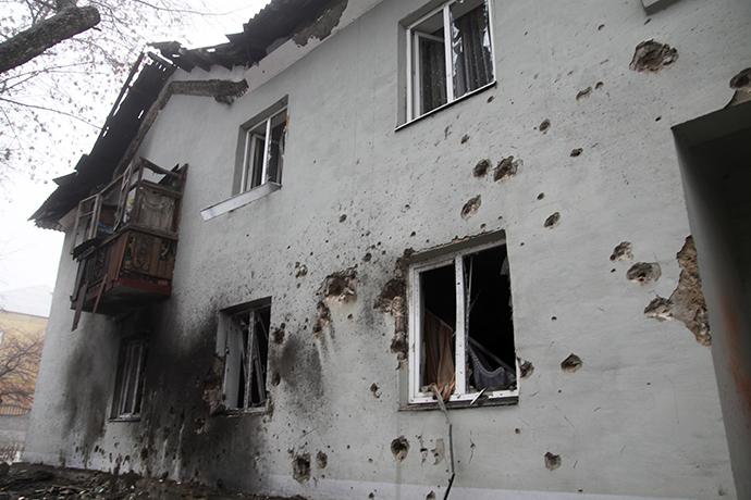 A house destroyed by Ukrainian army's shelling in Kuybyshevsky district, Donetsk (RIA Novosti / Sergey Averin)