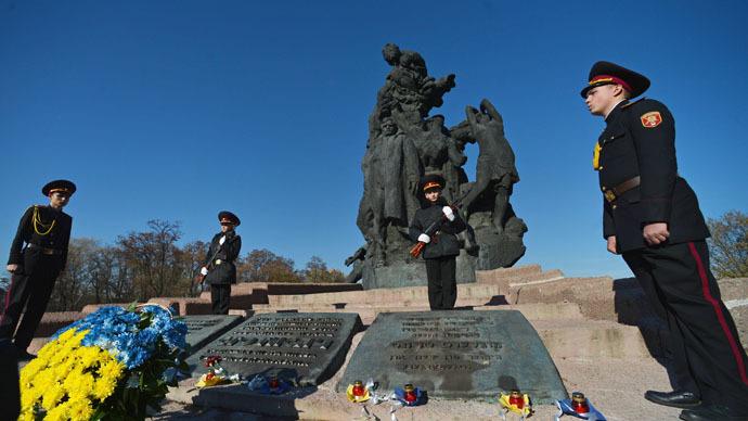 Calls to protect Babi Yar Nazi victims' memorial after swastika vandalism