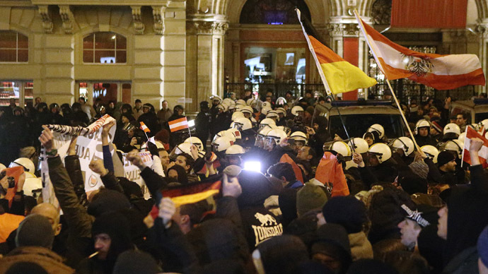 Anti-Islamism PEGIDA rally gathers hundreds in Austria