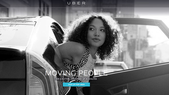 screenshot from uber.com
