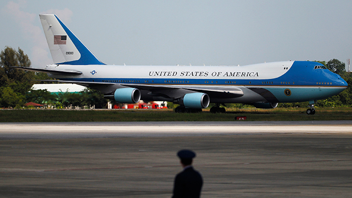 Air Force One plane (Reuters / Soe Zeya Tun)