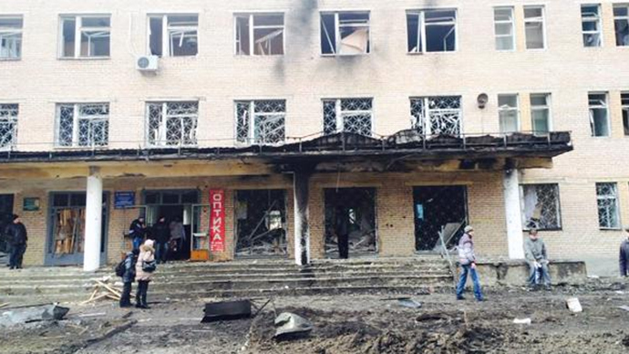 Hospital shelled in Ukraine's rebel Donetsk, multiple casualties reported