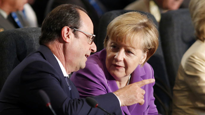 Hollande, Merkel go to Moscow to discuss Ukraine without consulting US – report
