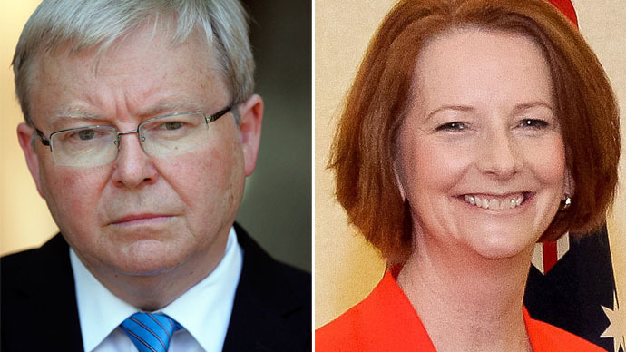 Kevin Rudd (L) and Julia Gillard (Photo from wikipedia.org)