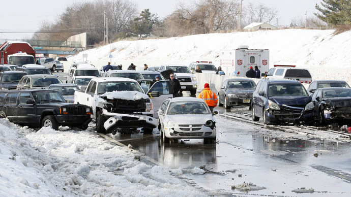 Monster pile-up in upstate New York shuts down highway (PHOTOS)
