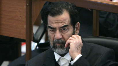 FILE PHOTO: Ousted Iraqi President Saddam Hussein. (Reuters/Nikola Solic)