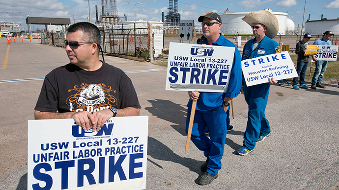 Biggest US refinery joins nationwide strike stretching into 4th week (PHOTOS)