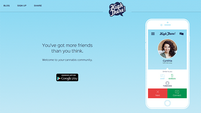 ​'High There!' Tinder-style dating app helps stoners connect, light up