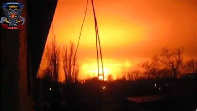 Huge explosion at Donetsk chemical plant, Kiev blames 'dropped cigarette butt' (VIDEO)